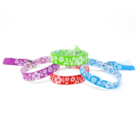 "Woven Wristbands 1/2"" Aloha - High Security Closure WOVAL (100/Pack) - Wristbands.com"