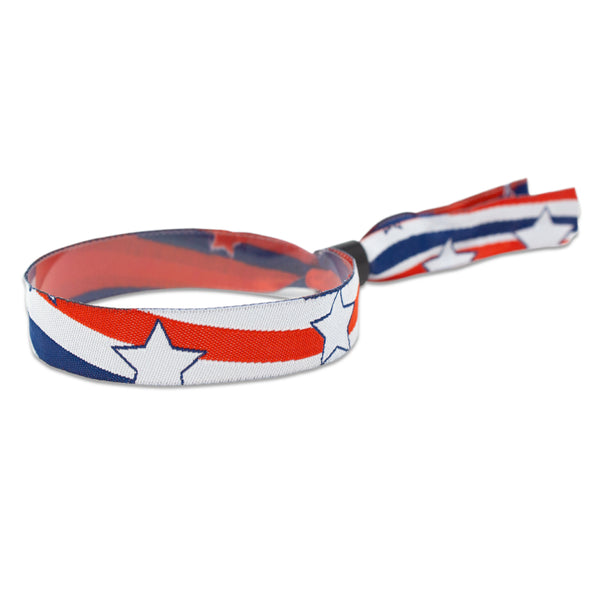 "Woven Wristbands 1/2"" Liberty - High Security Closure WOVLB (100/Pack) - Wristbands.com"