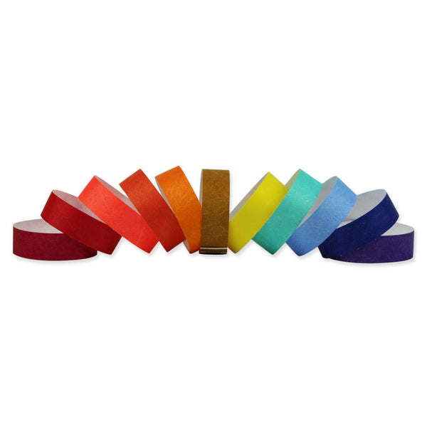 "Tytan-Band® 3/4"" Tyvek Wristbands NTS Adhesive Closure (500/Pack) - Wristbands.com"