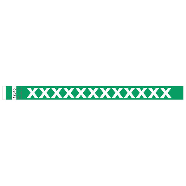 "Tytan® Band Expressions Tyvek 3/4"", X-Treme Design Wristbands, NTX105-22-PDM, Kelly Green, 500/Pack"