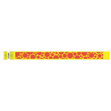 "Tytan® Band Expressions Tyvek 3/4"", Bubble Explosion Design Wristbands, NTX107-14-PDM, Yellow, 500/Pack"