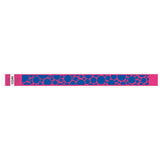 "Tytan® Band Expressions Tyvek 3/4"", Bubble Explosion Design Wristbands, NTX107-37-PDM, Day Glow Pink, 500/Pack"