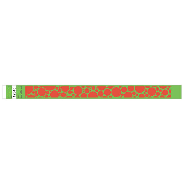 "Tytan® Band Expressions Tyvek 3/4"", Bubble Explosion Design Wristbands, NTX107-75-PDM, Lime, 500/Pack"