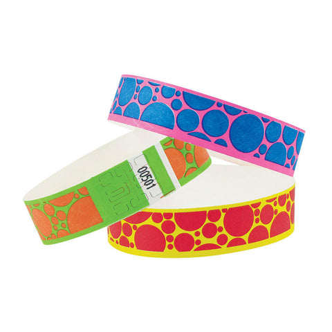 "Tytan® Band Expressions Tyvek Wristbands 3/4"" Bubble Explosion Design NTX107 (500/Pack) - Wristbands.com"