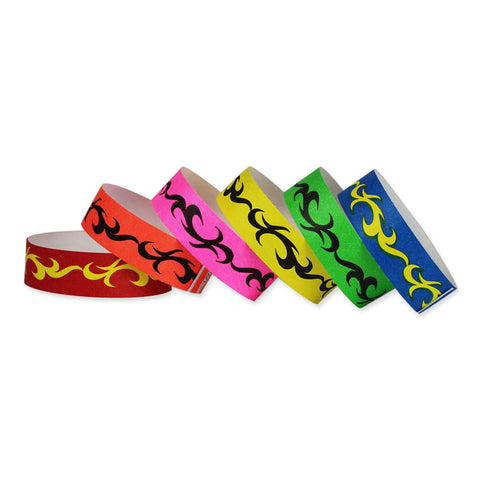 "Tytan Band® Expressions Tyvek Wristbands 3/4"" Tribal Design NTX69 (500/Pack) Clearance - Wristbands.com"