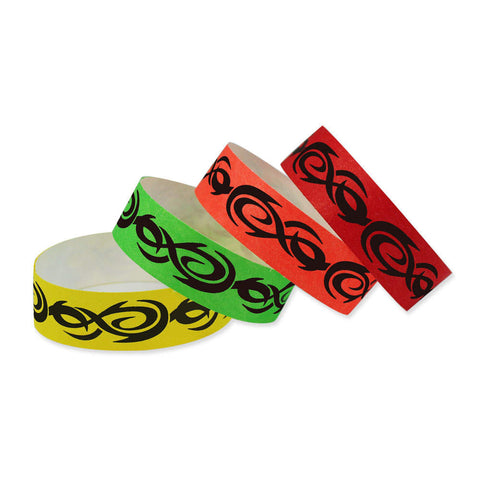 "Tytan Band® Expressions Tyvek 3/4"" Tattoo Design Wristbands NTX78 - 500/Pack - Wristbands.com, The No.1 Wristband Store in the World"