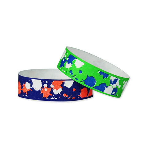 "Tytan Band® Expressions Tyvek 3/4"" Paintball Design Wristbands NTX83 - 500/Pack - Wristbands.com, The No.1 Wristband Store in the World"
