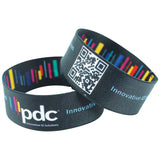 "Woven 1"" Stretch Custom Imprinted Wristbands,  Full Color, SSWOVA-00-PDF-I, 50/Pack"