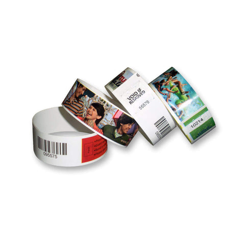 "Custom Full-Color Plastic Wristbands, 1"", Glossy Finish (1000/Box) - Wristbands.com"