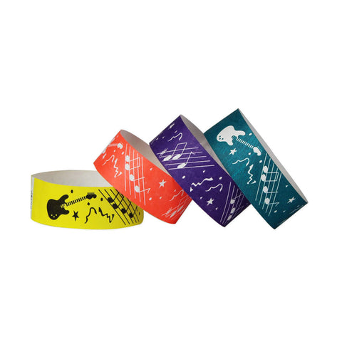 "Tytan Band® Expressions Tyvek 1"" Rock Design Wristbands TX01 - 500/Pack - Wristbands.com, The No.1 Wristband Store in the World"