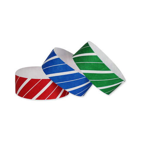"Tytan Band® Expressions Tyvek 1"" Stripes Design Wristbands TX02 - 500/Pack - Wristbands.com, The No.1 Wristband Store in the World"
