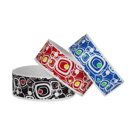 "Tytan Band® Expressions Tyvek Wristbands 1"" Mayhem Design TX18 (500/Pack) Clearance - Wristbands.com"