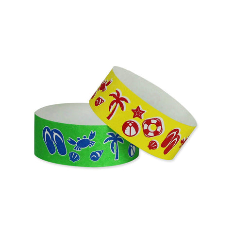 "Tytan Band® Expressions Tyvek 1"" Beach Design Wristbands TX25 - 500/Pack - Wristbands.com, The No.1 Wristband Store in the World"