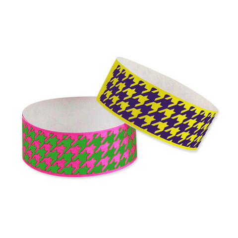 "Tytan Band® Expressions Tyvek 1"" Houndstooth Design Wristbands TX27 - 500/Pack - Wristbands.com, The No.1 Wristband Store in the World"