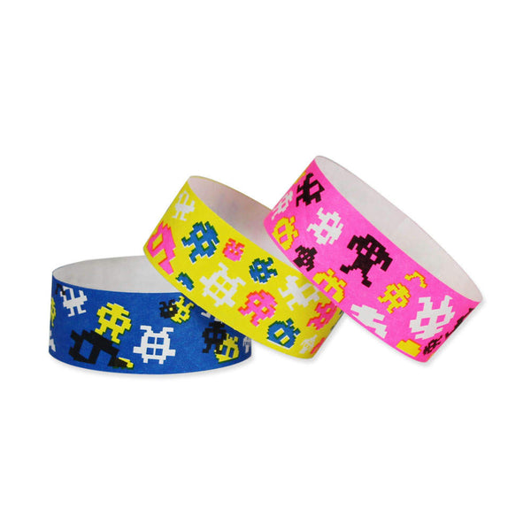 "Tytan Band® Expressions Tyvek Wristbands 1"" Video Game Design TX28 (500/Pack) - Wristbands.com"