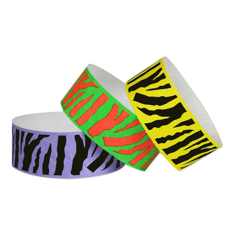 "Tytan Band® Expressions Tyvek Wristbands 1"" Tiger Design TX31 (500/Pack) - Wristbands.com"