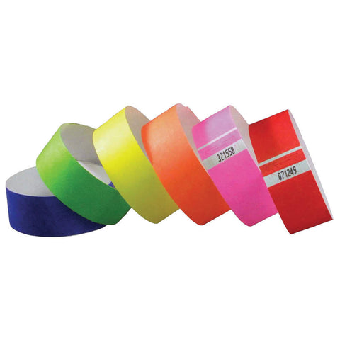 "Tytan-Band® 1"" Tyvek Wristbands TYS Adhesive Closure Group Images"
