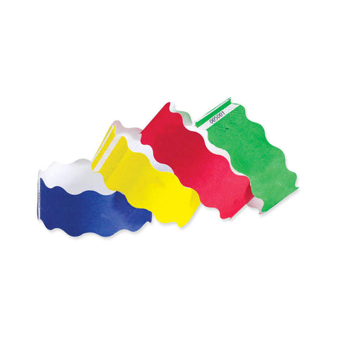 "Tytan Band® Wave Tyvek 1"" Wristbands TYW -  500/Pack - Wristbands.com, The No.1 Wristband Store in the World"