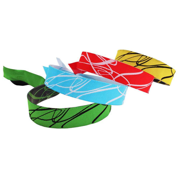 "Woven Wristbands 1/2"" Swirl Design - High Security Closure WOBS (100/Pack) - Wristbands.com"