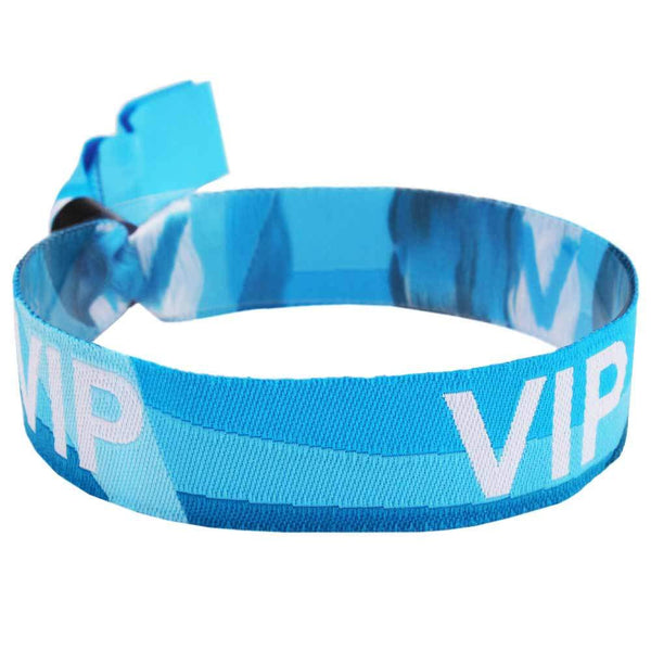 "Woven 1/2"" VIP Design Wristbands - High Security Closure - Blue - 100/Package"