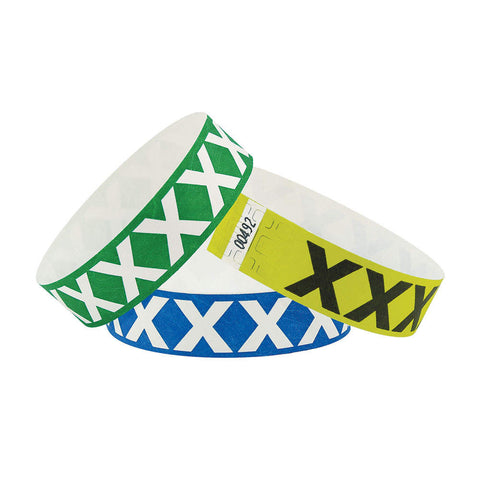 "Tytan® Band Expressions Tyvek 3/4"", X-Treme Design Wristbands, NTX105, 500/Pack"