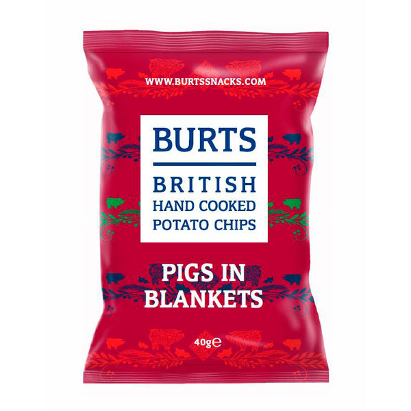 Burts jule chips, pigs in blankets