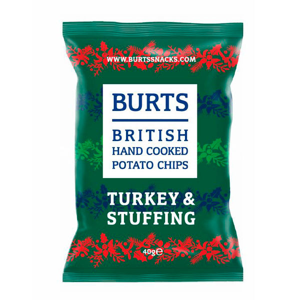 Burts jule chips, Turkey and stuffing