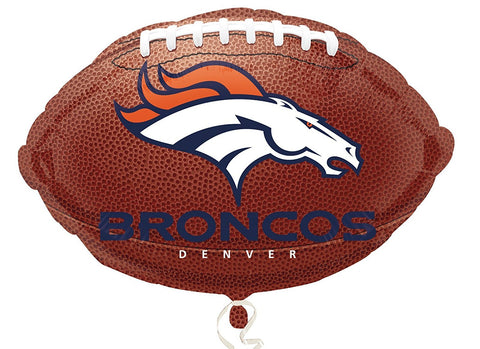 "Anagram International Denver Broncos Flat Party Balloons, 18"", Multicolor - Sports Paradise"