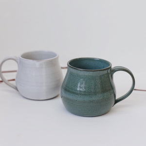 Ceramic Short Curvy Mug