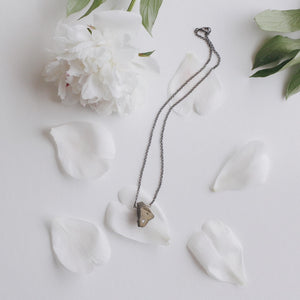 Stone + Silver Chain Necklace No. 6