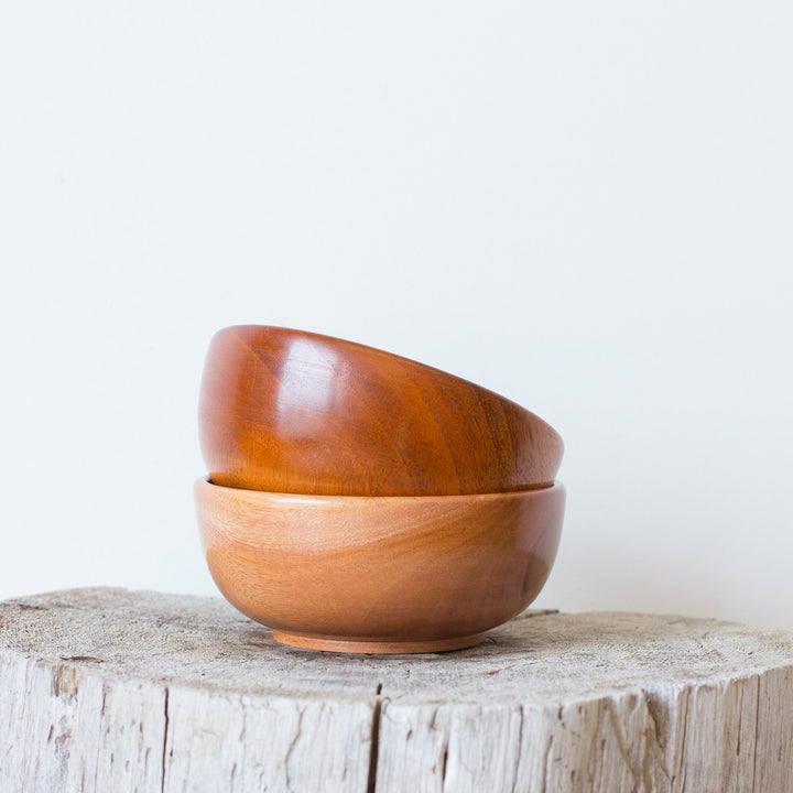 Teak Rice Bowls (Set of 2)