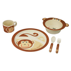 Bamboo Kids 5pc Dinnerware Set - Cow-Freshique