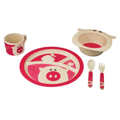 Bamboo Kids 5pc Dinnerware Set - Elephant-Freshique