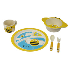 Bamboo Kids 5pc Dinnerware Set - Owl-Freshique