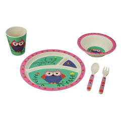 Bamboo Kids 5pc Dinnerware Set - Monkey-Freshique