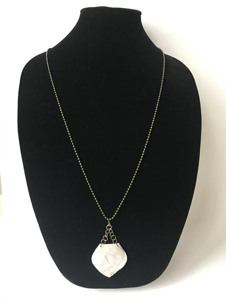 Metallic Waves Leather Necklace
