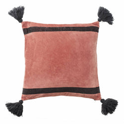 Cover me up - Cushion Cover -  Dazzling tassels / Red
