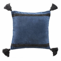 Cover me up - Cushion Cover -  Dazzling tassels / Blue