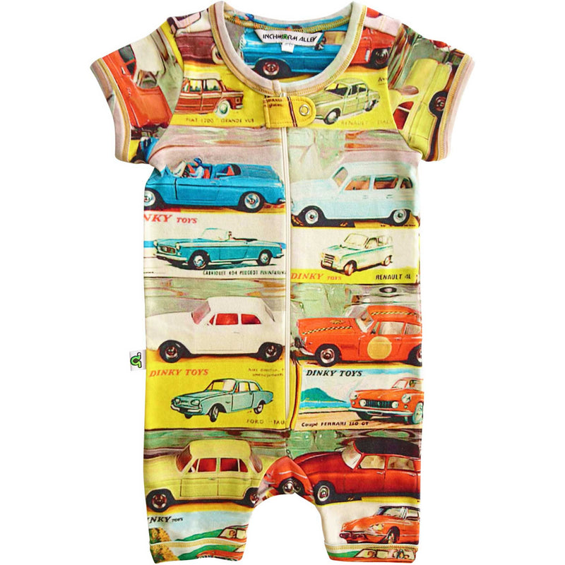 Inchworm Alley - Short Sleeve Romper - Dinky Cars