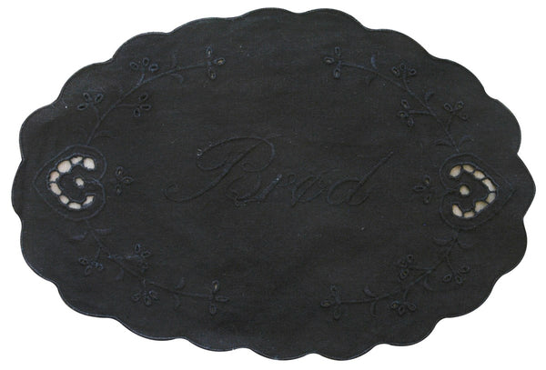 Danish Bread napkin oval black