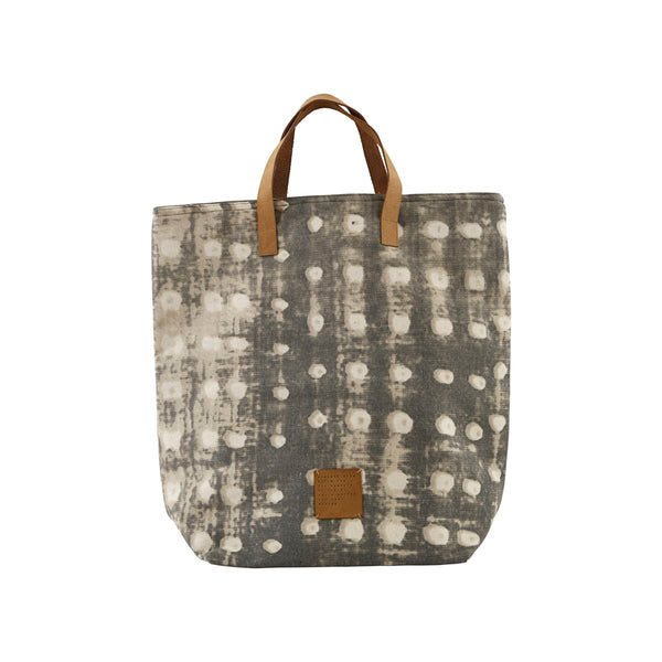 SHOPPING BAG, DOTS, GREY