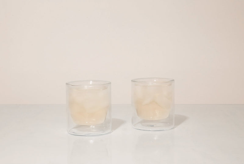 YIELD - 6 oz Double-Wall Clear Glass Set