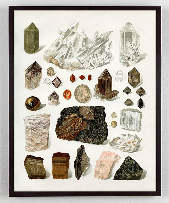 Antique Gem and Crystal Rock Art Print - 2 Sizes