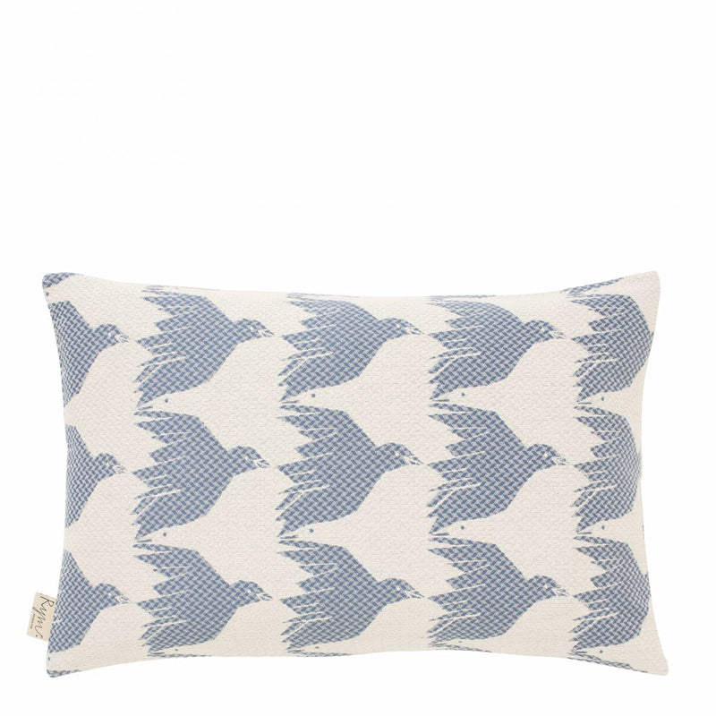 Cover me up - Cushion Cover -  Birdie nam nam / Blue