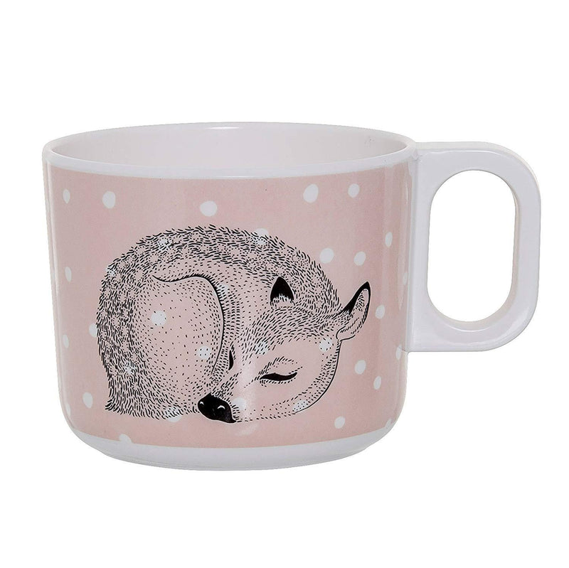 Melamine Pink Cup with Sleeping Dear