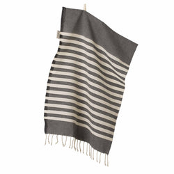Wipe Me Off - Hand Towel,  Sur la plage / Black
