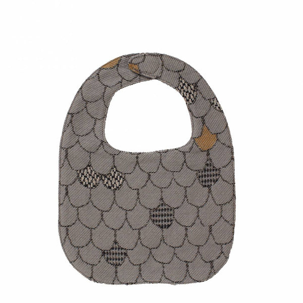 Drool On Me - Baby Bib - Wallop Scallop/Grey
