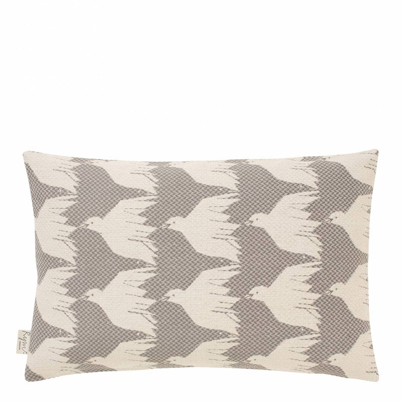 Cover me up - Cushion Cover -  Birdie nam nam / Grey