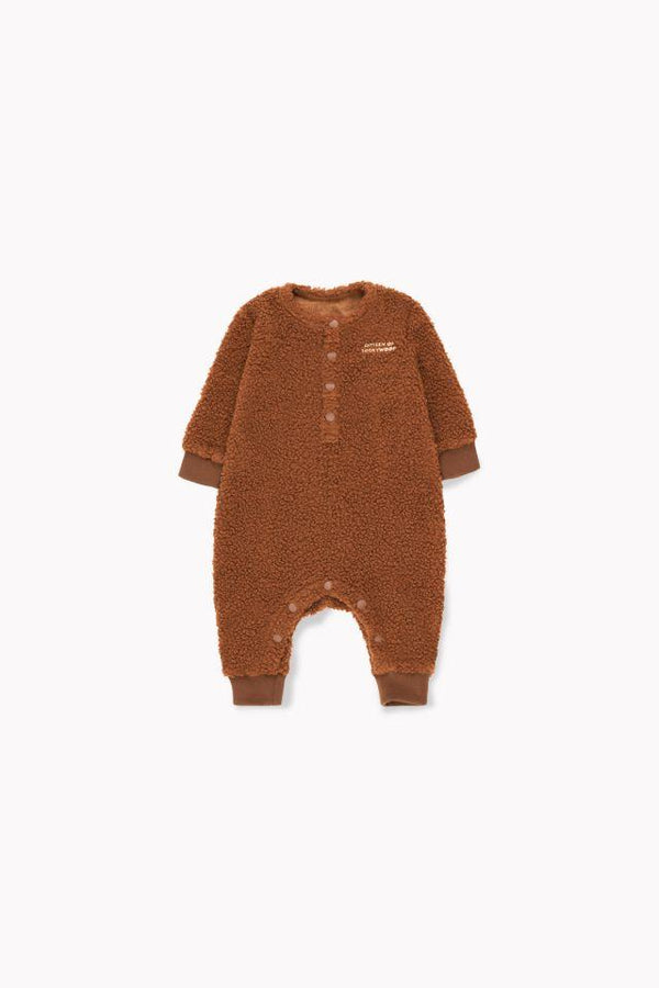 """CITIZEN OF LUCKYWOOD"" ONE-PIECE DARK BROWN/LIGHT CREAM"