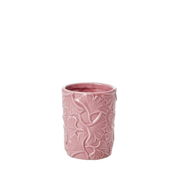 Toothbrush Holder with Embossed Details - Dusty Pink